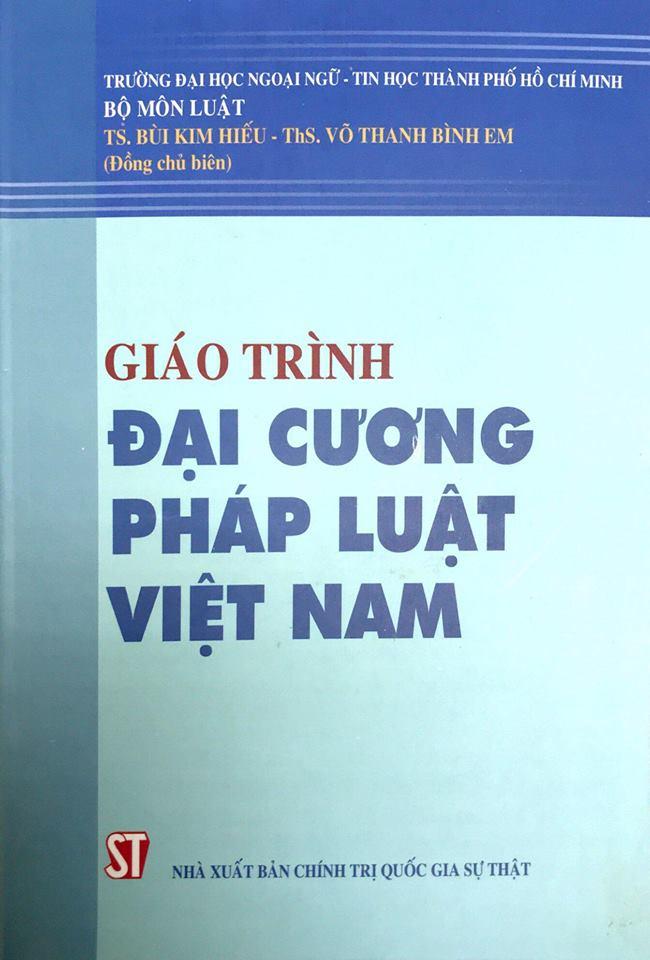 Giáo trình đại cương pháp luật Việt Nam