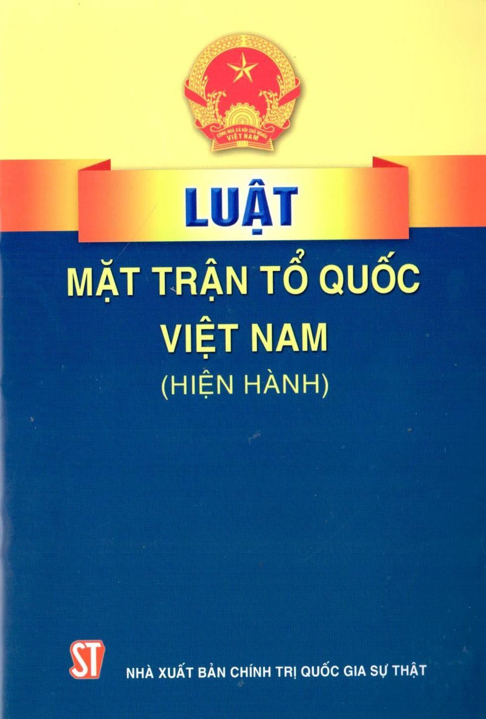 Luật Mặt trận Tổ quốc Việt Nam (hiện hành)