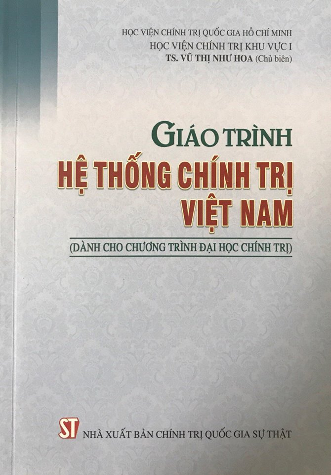 Giáo trình hệ thống chính trị Việt Nam (Dành cho chương trình đại học chính trị)