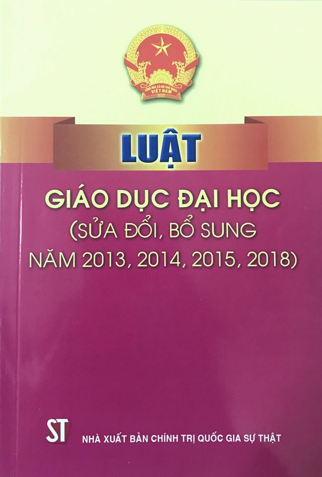 Luật Giáo dục đại học (sửa đổi, bổ sung năm 2013, 2014, 2015, 2018)
