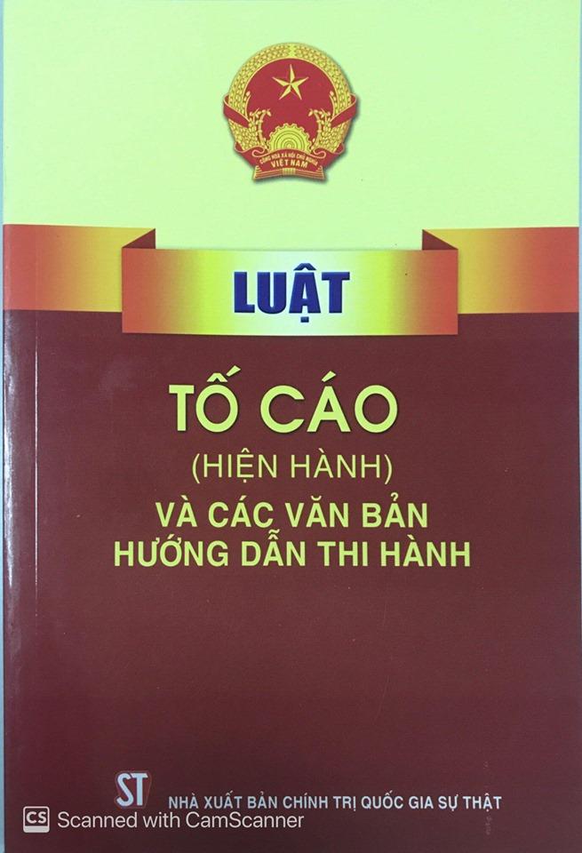 Luật Tố cáo (hiện hành) và các văn bản hướng dẫn thi hành