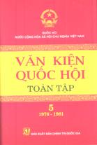 Văn kiện Quốc hội toàn tập - Tập 5 (1976-1981)