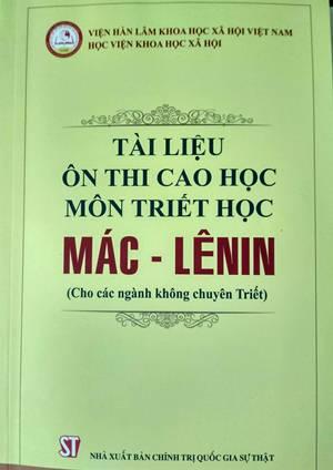 Tài liệu ôn thi cao học Môn triết học Mác –Lênin (Cho các ngành khối không chuyên triết)