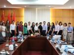 Hội đàm với Nhà xuất bản Phụ nữ về việc phối hợp tổ chức xuất bản sách