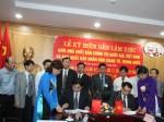 Lễ ký biên bản làm việc giữa Nhà xuất bản Chính trị quốc gia - Sự thật, Việt Nam và Nhà xuất bản Nhân dân Giang Tô, Trung Quốc