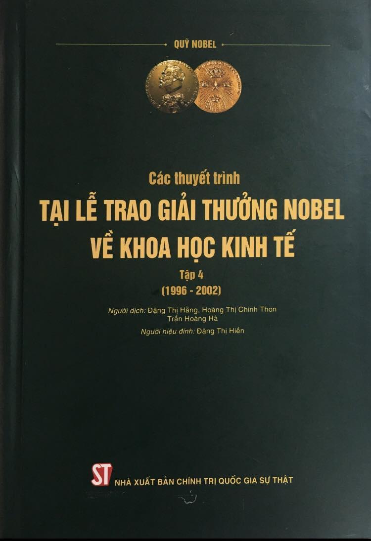 Các thuyết trình tại Lễ trao giải thưởng Nobel về khoa học kinh tế, Tập 4 (1996 – 2002)