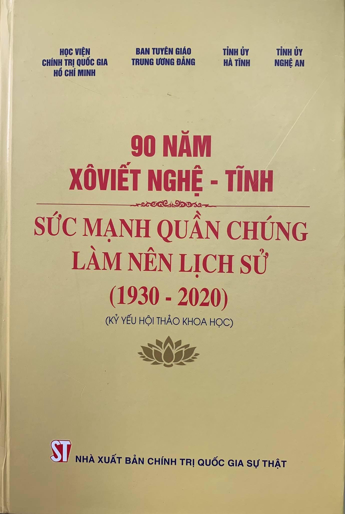 90 năm Xôviết Nghệ - Tĩnh: Sức mạnh quần chúng làm nên lịch sử (1930 - 2020)