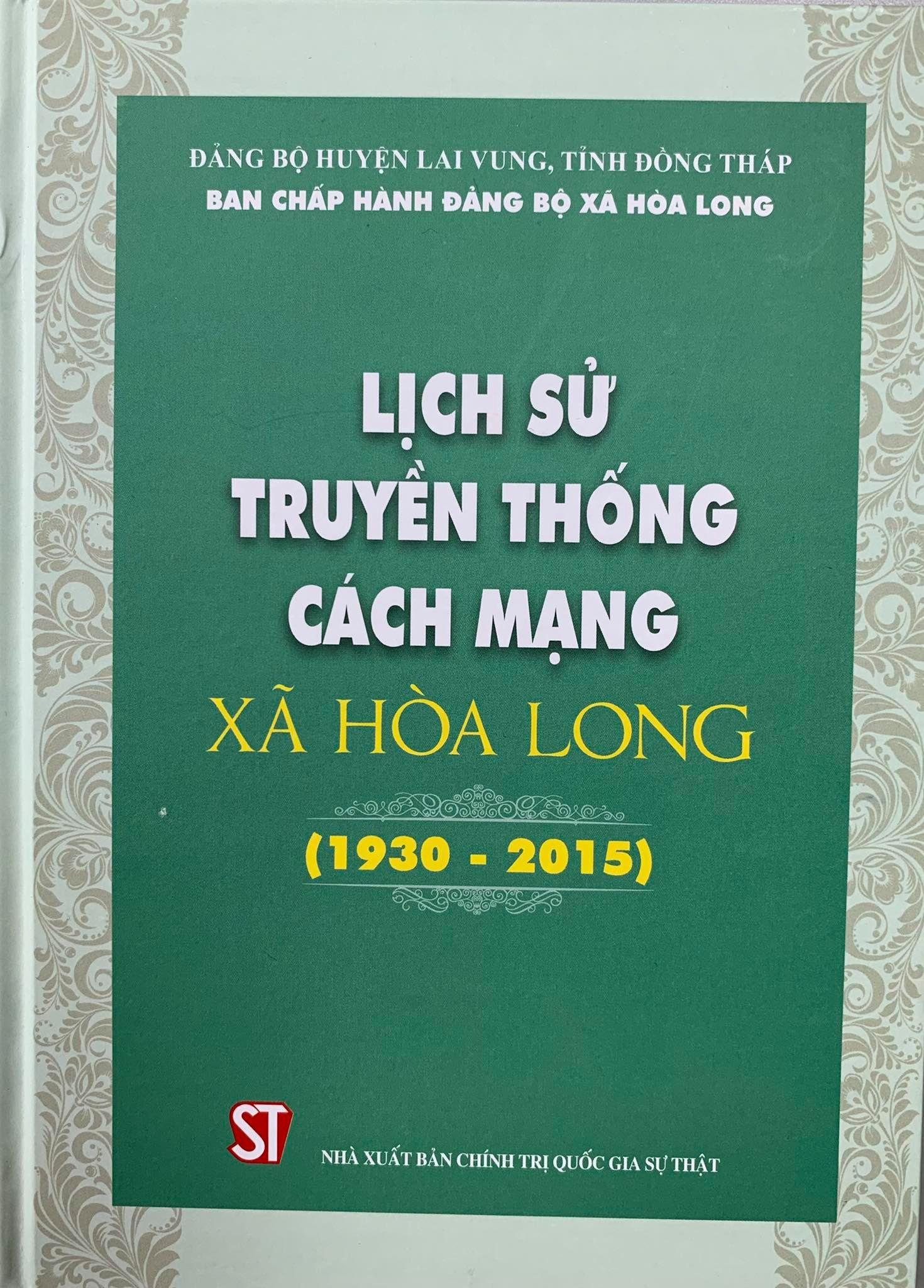 Lịch sử truyền thống cách mạng xã Hòa Long (1930 - 2015)