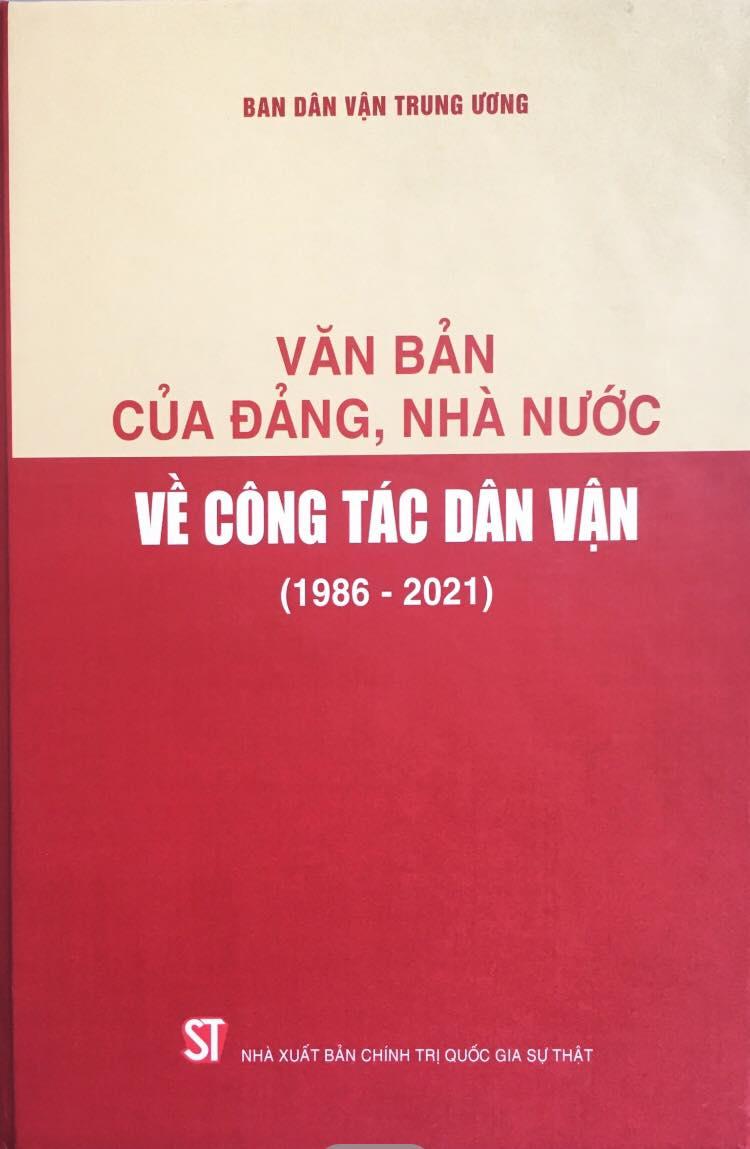 Văn bản của Đảng, Nhà nước về công tác dân vận (1986 – 2021)