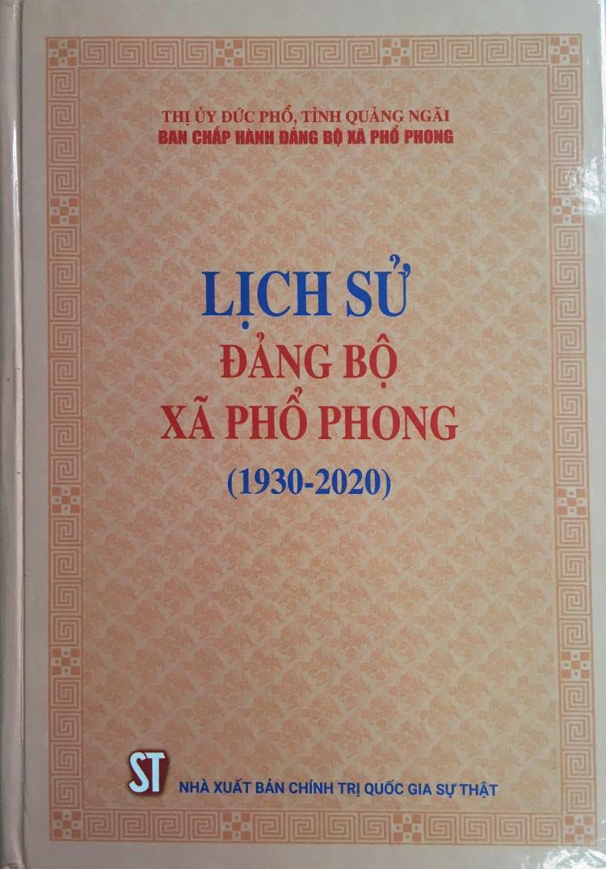 Lịch sử Đảng bộ xã Phổ Phong (1930 - 2020)