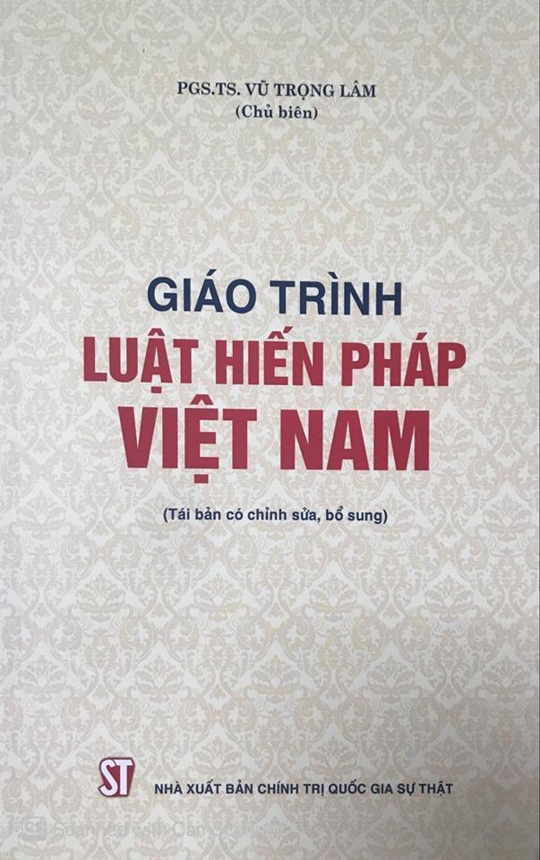 Giáo trình Luật Hiến pháp Việt Nam (Tái bản có chỉnh sửa, bổ sung)