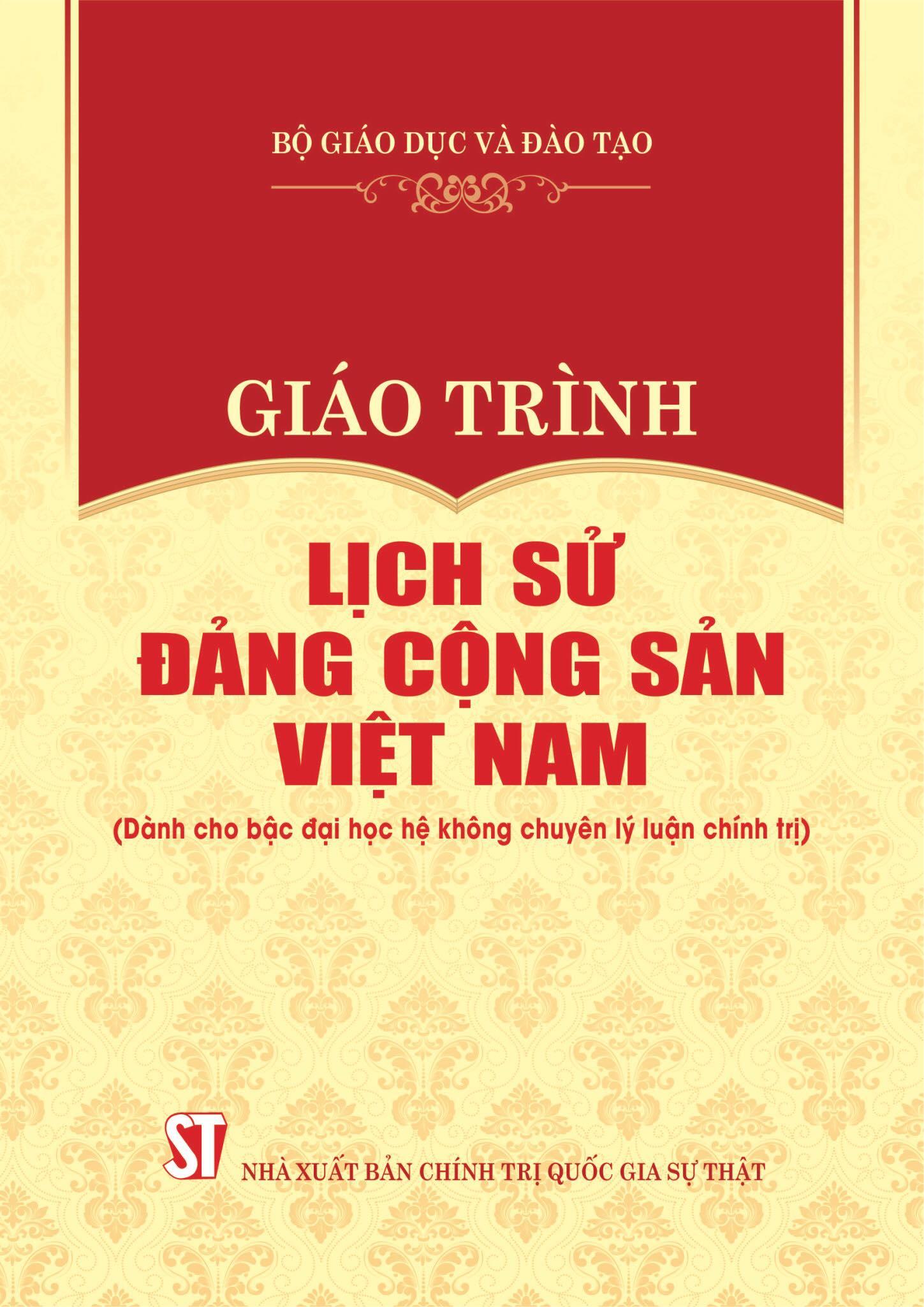 Giáo trình Lịch sử Đảng Cộng sản Việt Nam (Dành cho bậc đại học hệ không chuyên lý luận chính trị)