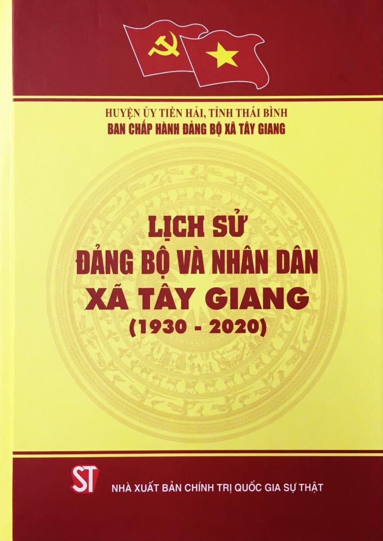 Lịch sử đảng bộ và nhân dân xã Tây Giang (1930 – 2020)