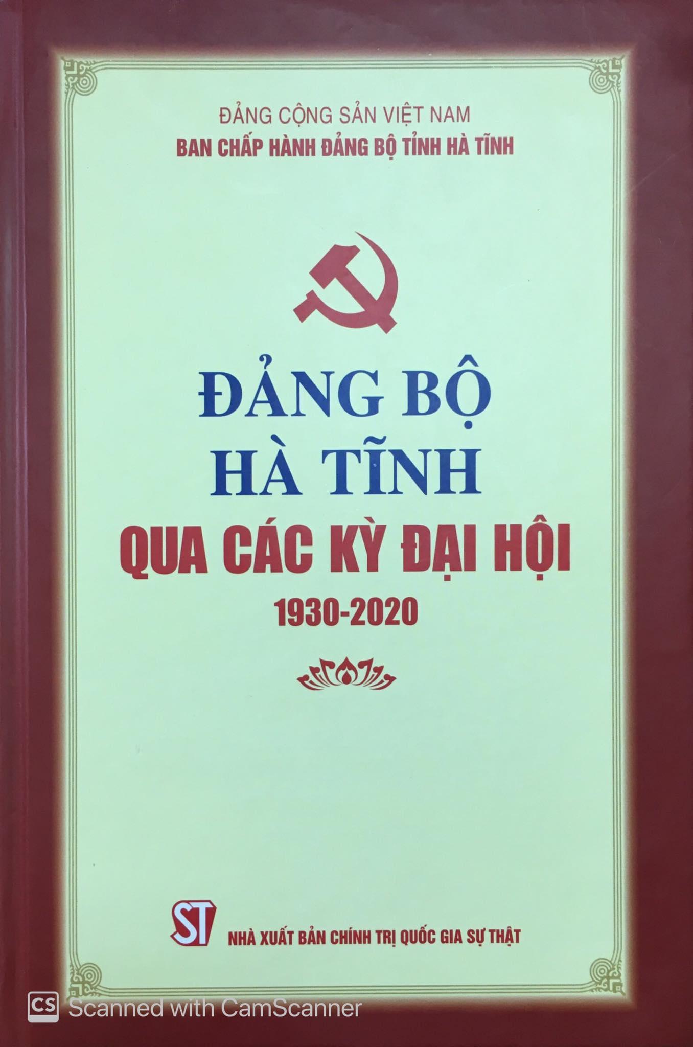 Đảng bộ Hà Tĩnh qua các kỳ đại hội (1930 - 2020)