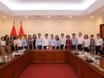 Đoàn cán bộ Nhà xuất bản Chính trị quốc gia Sự thật tham quan, khảo sát và làm việc tại Trung tâm Thông tấn xã Việt Nam