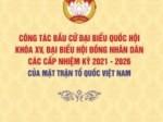 Công tác bầu cử đại biểu Quốc hội khóa XV, đại biểu Hội đồng nhân dân các cấp nhiệm kỳ 2021 - 2026 của Mặt trận Tổ quốc Việt Nam